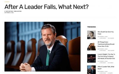 "Relevant Magazine: ""After a Leader Falls, What Next?"""