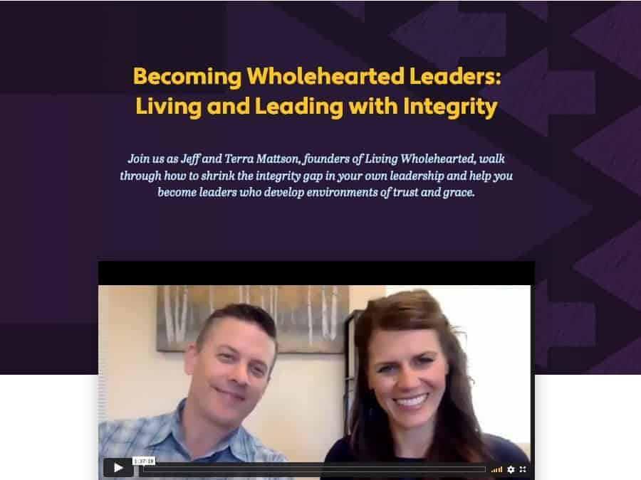 Webinar: Becoming Wholehearted Leaders [FREE]