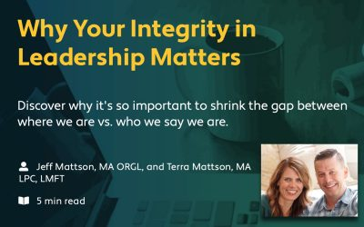 "Ministry Spark: ""Why Your Integrity in Leadership Matters"""